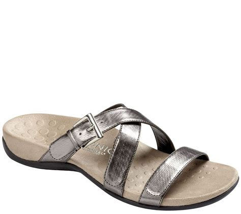 orthaheel sandals on sale vionic by orthaheel orthotic slide sandals