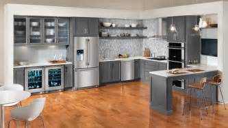 kitchen appliances design 15 warm and grey kitchen cabinets home design lover