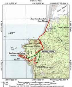 cape meares oregon map cape meares hike hiking in portland oregon and washington