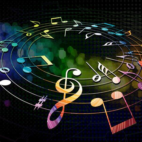colorful musical notes ipad wallpaper  iphone