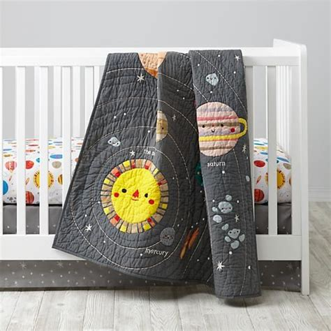 Outer Space Crib Bedding Space Crib Bedding Planets Crib Sets And Baby Quilts