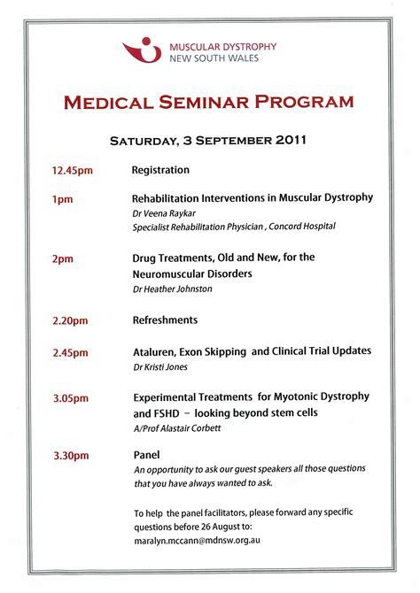 program layout for seminar invitation letter for medical seminar images invitation
