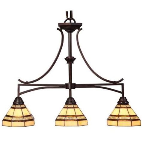 kitchen lighting home depot hton bay 3 light rubbed bronze kitchen island light