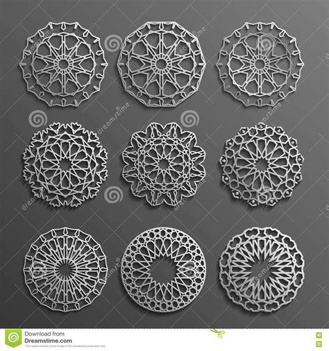islamic round pattern vector islamic ornament vector persian motiff 3d ramadan