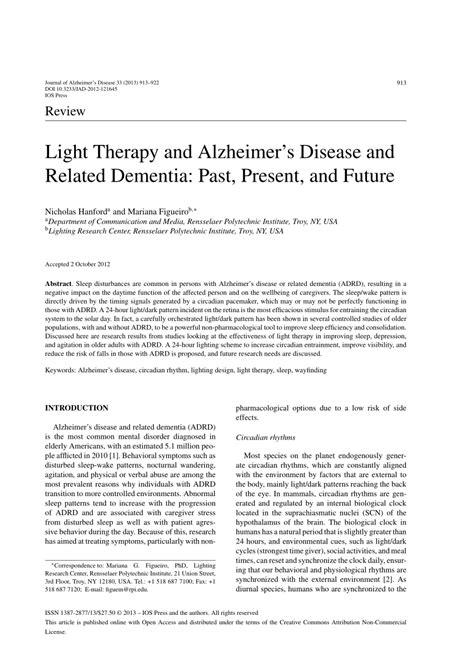 light therapy for dementia pdf light therapy and alzheimer s disease and related
