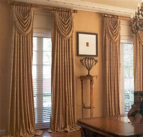 Curtain Panels For Large Windows Living Room Living Room Curtains Has Interior Dark Brown
