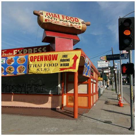 hollywood boulevard food thai town express on hollywood boulevard los angeles