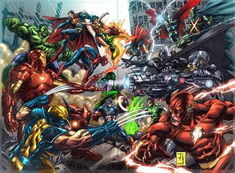 marvel vs dc wallpaper by artifypics on deviantart marvel dc wallpapers wallpapersafari