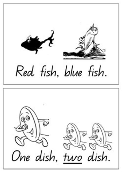 One fish, two fish, red fish, blue fish themed Sight Word
