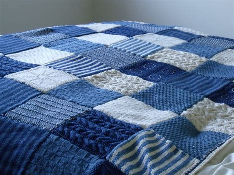 knit throw blanket woollie blanket knitting square