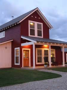 Blue Door Farm Stand Too Farmhouse Red With Board Amp Batten Siding House