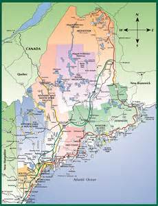 us map maine map of maine