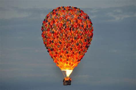 film hot air disney s up inspired hot air balloon stunt i wanna ride