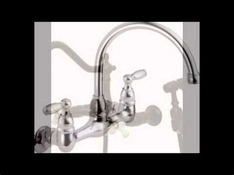 Peerless Wall Mount Kitchen Faucet Peerless P299305lf Choice Two Handle Wall Mounted Kitchen Faucet Tzimmesembryon
