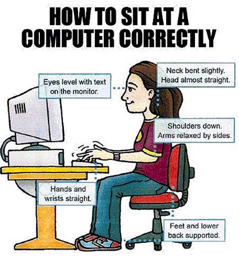 how to a to sit how to sit at a computer correctly mr claus lab