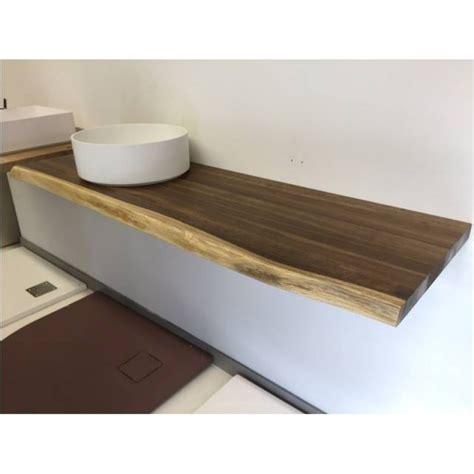 echtholz waschtisch echtholz waschtischplatte 140x45x4 cm eiche mit baumkante