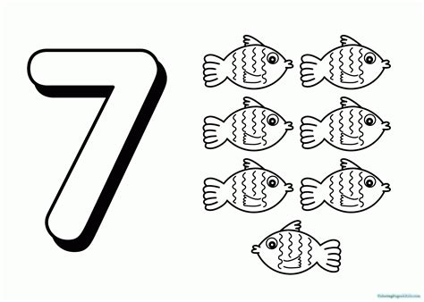 Number 7 Coloring Pages For Preschoolers by Number 7 Coloring Page Images Free Printable Coloring Pages