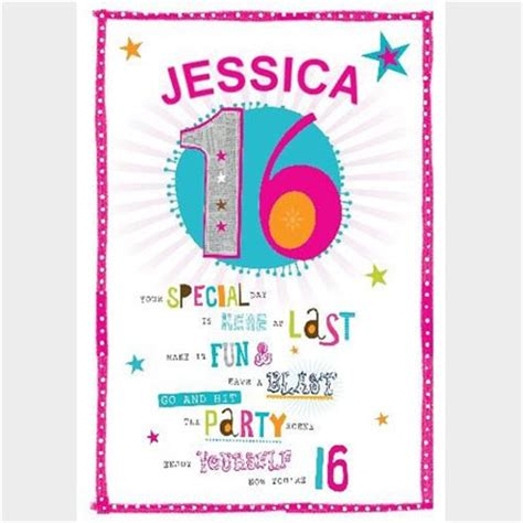 16th Birthday Card Personalised 16th Birthday Cards Gettingpersonal Co Uk