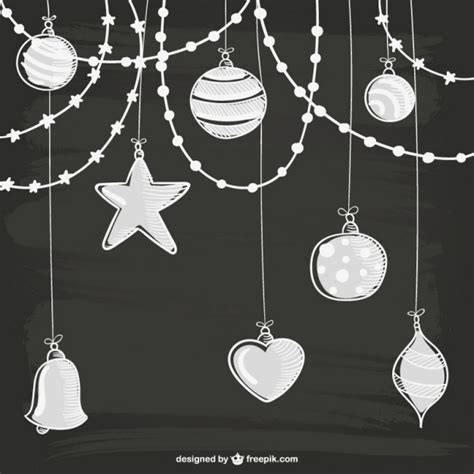 white christmas ornaments vector free download