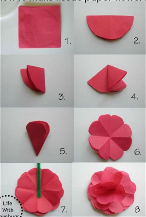 How Do You Make A Flower Out Of Tissue Paper - how to make paper flowers part 2 360talkatives