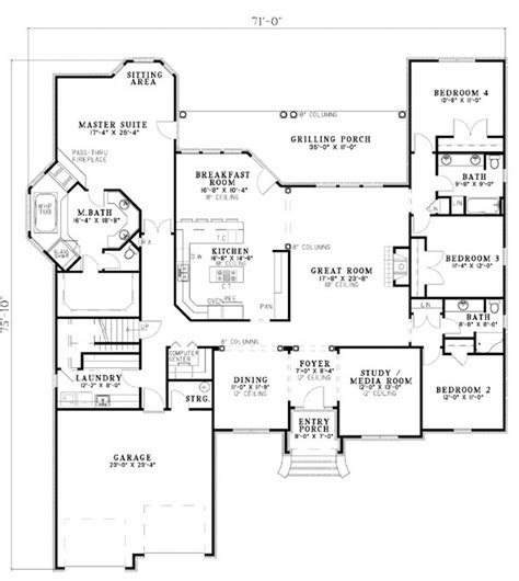 popular house floor plans best floor plan the only thing i would change is to
