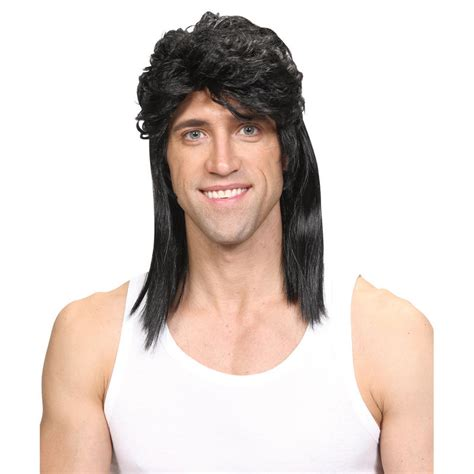 1980s hairstyle wig for black wicked costumes 1980 s mullet retro rocker hillbilly