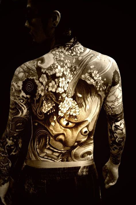 japanese hannya mask back tattoo the best hannya demon mask japanese tattoo tattoo