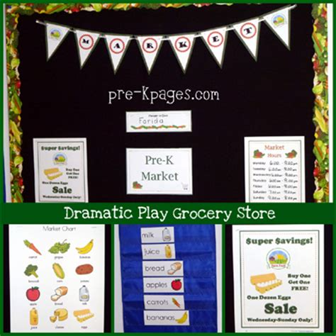 Awning Bags Dramatic Play Grocery Store Center