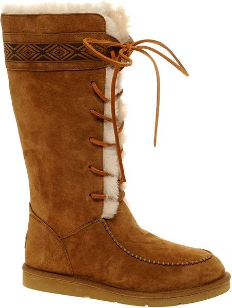ugg lace up boots ugg tularosa lace up boot in brown chestnut lyst