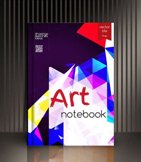 notebook cover design vector free download art notebook cover template vector 11 vector cover free