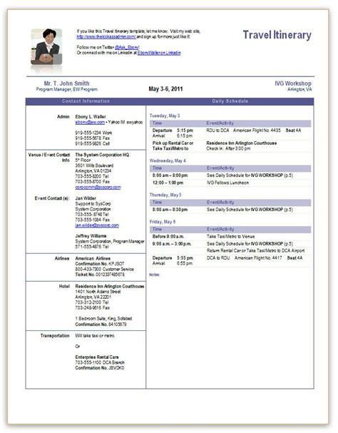 travel itinerary office templates pinterest travel