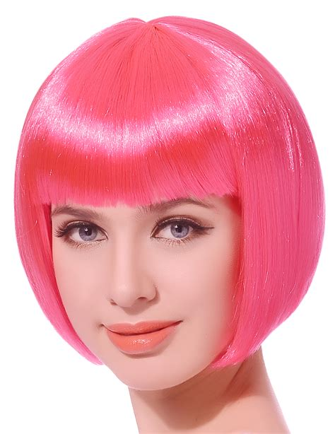 Pinkcoco Wig 2 costumes with pink wig wigs by unique