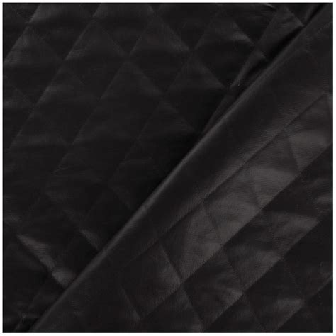 Quilted Polyester Fabric by Quilt Quilted Lining Fabric Black Chocolate X