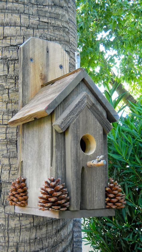 rustic outdoor bird house 370