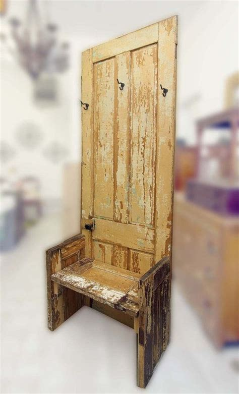 coat tree bench reclaimed door coat tree bench
