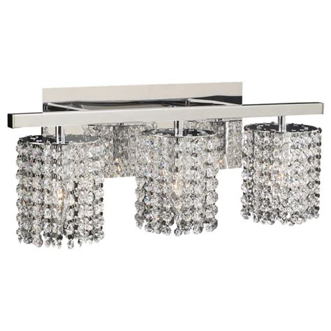 crystal vanity lights bathroom plc lighting 72194 pc polished chrome three light crystal