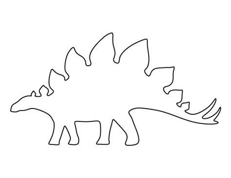 printable dinosaur stencils stegosaurus pattern use the printable pattern for crafts