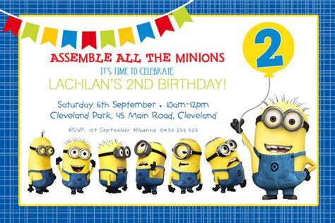 minion invitation card template stirring minions birthday invitations theruntime