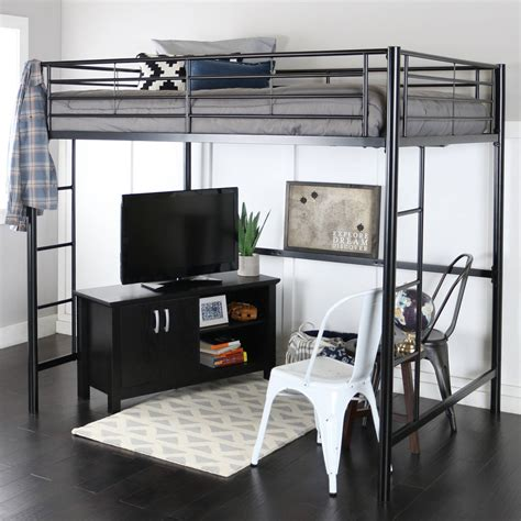 full size loft bed with desk for adults loft beds walmart com