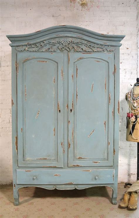 french armoire painted cottage chic shabby french romantic armoire wardrobe french armoire