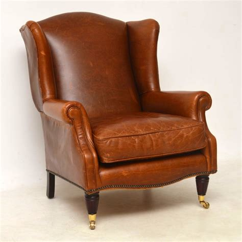 laura ashley leather armchair laura ashley southwold wing back leather armchair