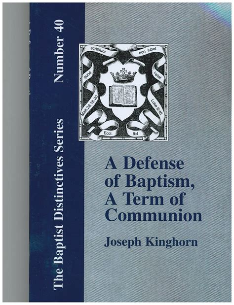 this i a simple biblical defense for lgbtq christians books a defense of baptism a term of communion kin196