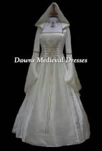 Medieval Wedding Dresses Cream Medieval Renaissance Hooded Wedding Dress Pagan Dawns Medieval Dresses