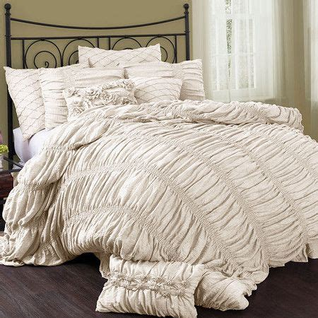 ruched bedding ruched comforter set in ivory product queen 1 comforter