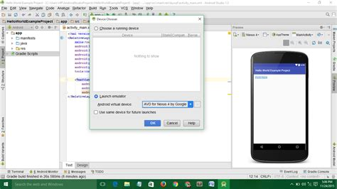 android studio run on device building android application with android studio hello world exle viral android