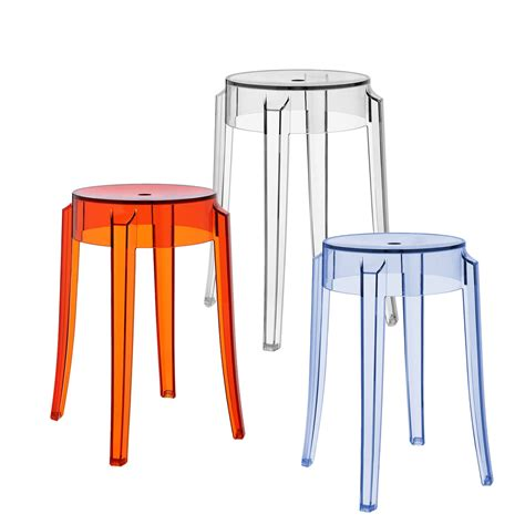Stool Kartell charles ghost stool by kartell in the shop