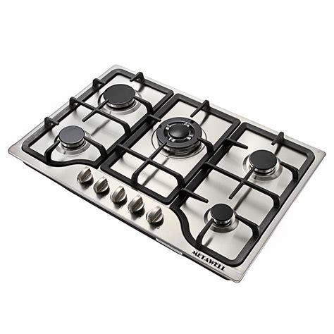 5 burner cooktop 30 quot stainless steel 5 burner built in stoves gas