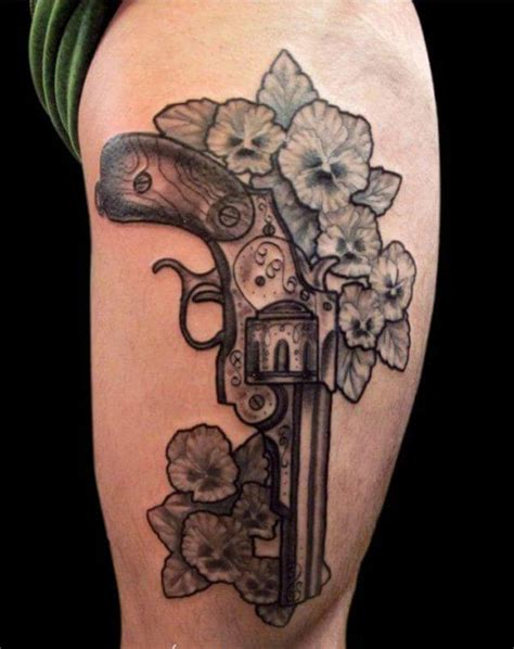 revolver tattoo gun tattoos for ideas and inspiration for guys