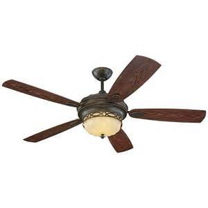 Patio Ceiling Fans With Lights Edwardian 3 Light Bronze Indoor Outdoor Ceiling Fan By Monte Carlo Fan