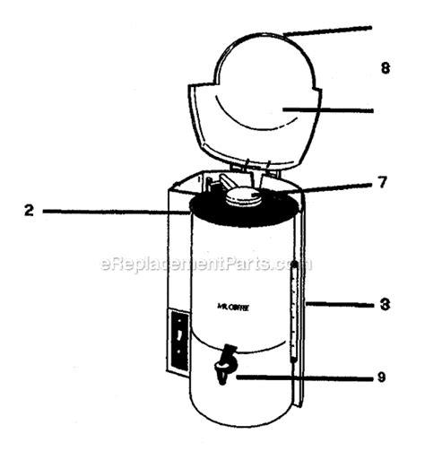 mr coffee parts diagram mr coffee ck240 parts list and diagram